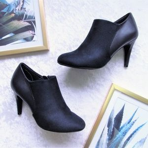 Dexflex navy faux leather suede booties